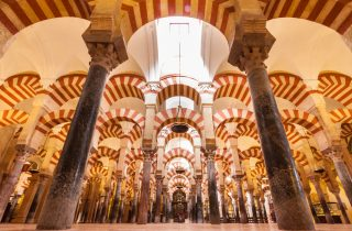 The Hypostyle Hall inside The Mosque-Cathedral of Córdoba