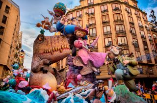 The Falles is a traditional celebration held in commemoration of Saint Joseph in the city of Valencia