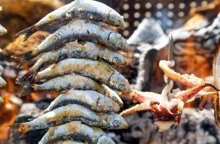 Espeto de sardinas (sardine skewer) - one of the many gems of the Andalucian cuisine