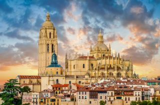 The Cathedral of Santa Maria also known as Segovia Cathedral is the last Gothic church built in Spain - Segovia