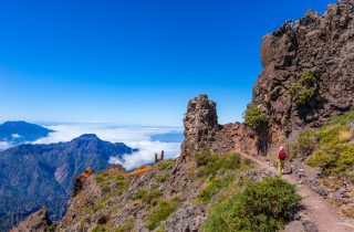 Footpath in the Caldera de Taburiente National Park, La Palma.