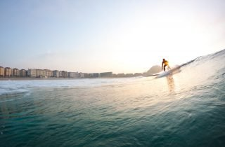 Enjoy surfing in San Sebastian while visiting one of the most charming cities in northern Spain.